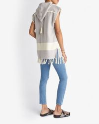 Koza - Blue Baja Sleeveless Beach Hoodie - Lyst