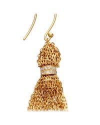 Solange Azagury-Partridge - Metallic Tassle Earrings - Lyst