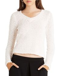 BCBGeneration | White V-neck Sweater | Lyst
