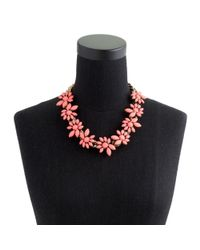 J.Crew - Pink Preorder Flower Petals Necklace - Lyst