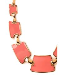Forever 21 - Orange Flat Lacquered Bib Necklace - Lyst