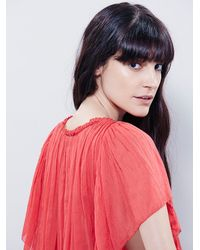 Free People | Red Fp One Womens Juniper Ruffle Blouse | Lyst