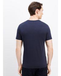Vince Blue Favorite Jersey V-neck Tee for men