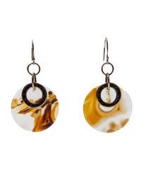 Beth Orduna | Orange Agate Slice Earring | Lyst
