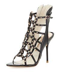 sophia webster brandy highheel gladiator sandal blackrose