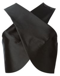 Carven - Black Crisscross Top - Lyst