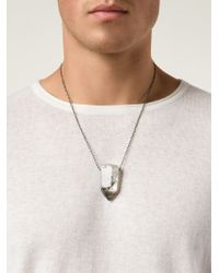 Joseph Brooks - Metallic Crystal Pendant Necklace for Men - Lyst