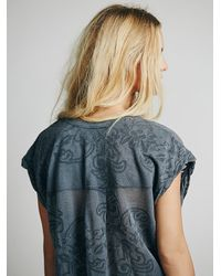 Free People - Blue La Livin Crazy For Lacey Tee - Lyst