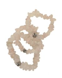 Duchess Of Malfi - Natural Rose Quartz Skull Bracelet - Lyst