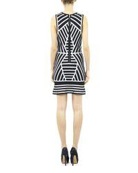 Nicole Miller White Bandage Sequin Dress