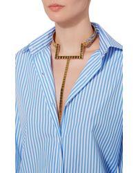 Monica Sordo Metallic Croisette 24k Gold And Rhodium Four-way Neck Piece
