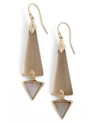 Alexis Bittar | Gray 'lucite' Elongated Drop Earrings | Lyst