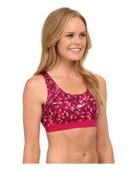 Nike | Pink Dri-fit™ Pro Classic Glitch Bra | Lyst