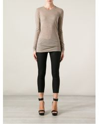 Forte Forte - Natural Knitted Long Sleeve Tshirt - Lyst
