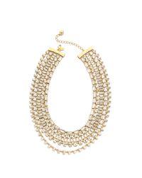 kate spade new york Metallic Vegas Jewels Multi Strand Necklace - Clear