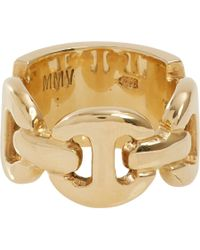 Hoorsenbuhs - Metallic Diamond Gold Plate Ring - Lyst