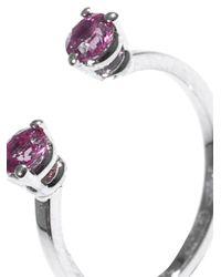 Delfina Delettrez | Purple Pink Sapphire & Gold Phalanx Ring | Lyst