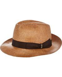 Borsalino Trilby Hat-brown Size 7 for men