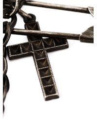 Jean Paul Gaultier | Metallic Charm Safety Pin Brooch | Lyst