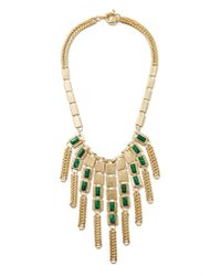 Nasty Gal | Green Ivy Malachite Necklace | Lyst