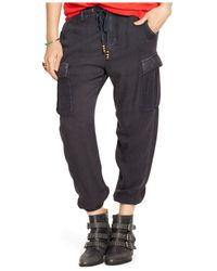 Denim & Supply Ralph Lauren Green Drawstring Cargo Pants