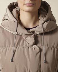 Jaeger - Natural Shawl Collar Puffer Coat - Lyst