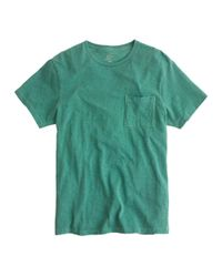 J.Crew Green Garment-dyed T-shirt for men
