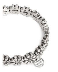 Philippe Audibert Metallic 'carline' Flower Crystal Bracelet