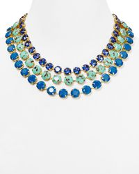 "ABS By Allen Schwartz - Blue Multi Strand Necklace, 17"" - Lyst"