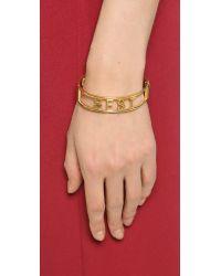 Rebecca Minkoff Metallic Best Friend Hinge Bracelet - Gold
