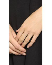 Blanca Monros Gomez | Metallic Asymmetrical Seed 14-Karat Gold Ring | Lyst