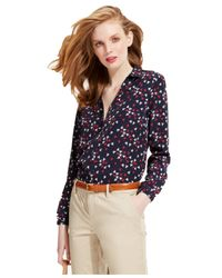 Tommy Hilfiger | Blue Mini-Sailboat Button-Down Blouse | Lyst
