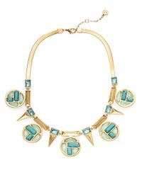 Trina Turk | Blue Medallion Collar Neckace | Lyst
