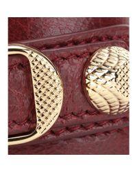 Balenciaga Red Giant Leather Bracelet