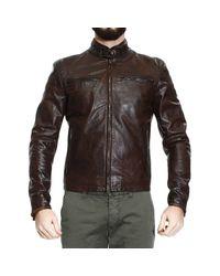 Matchless | Brown Down Jacket Jacket Osborne Motor Leather for Men | Lyst