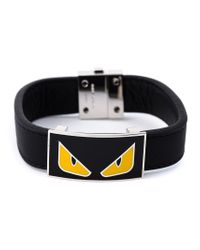 Fendi | Black Bag Bugs Bracelet for Men | Lyst