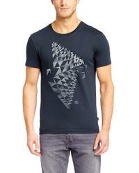 BOSS Blue Varied Stripe Short Sleeve T Shirt for men
