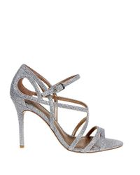 Belle By Badgley Mischka | Metallic Oval Open-toe Sandals | Lyst