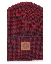 Obey | Red Sequoia Beanie for Men | Lyst