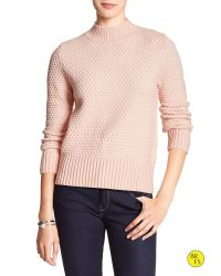 Banana Republic | Pink Factory Tile-stitch Sweater | Lyst