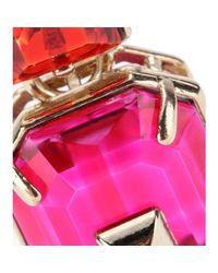Valentino - Metallic Crystalembellished Earrings - Lyst