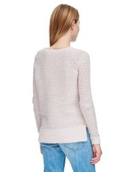 Rebecca Taylor Pink Metallic Textured Pullover