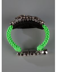 Shourouk - Green 'baraka Moonlight' Bracelet - Lyst