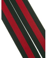 Gucci Green Striped Canvas Ribbon Belt for men