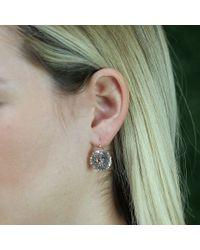 Andrea Fohrman Metallic 15mm Rock Crystal Drop Earrings