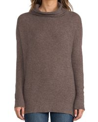 Joie Reverse Pearl Stitch Cashmere Sweater in Brown