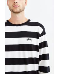 Stussy | White Stripe Long-sleeve Tee for Men | Lyst
