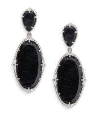 Judith Ripka - Blue Sophia Navy Sapphire, White Sapphire & Sterling Silver Earrings - Lyst