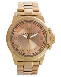 Sean John Metallic Men's Gold-tone Bracelet Watch 56x49mm 10021792 for men