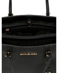 MICHAEL Michael Kors | Black Small Jet Set Travel Saffiano Tote Bag | Lyst